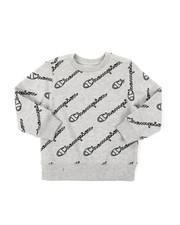 Sweatshirts & Sweaters - AOP Open Script CVC Crew Sweatshirt (4-7)-2385120