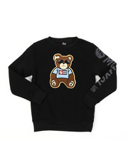 Sweatshirts & Sweaters - Fleece Crew Neck W/ Chenille Patch (8-20)-2385080
