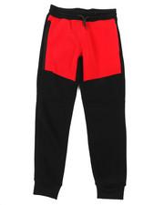Boys - Color Block Fleece Pants W/ Side Zipper (8-20)-2384743