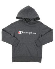 Champion - Classic Script CVC Hoodie (8-20)-2384981