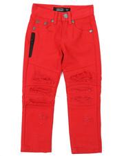 Boys - Stretch Embossed Cut Knee Denim Jeans (4-7)-2384733