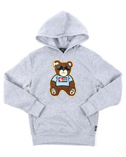 Hoodies - Pullover Fleece Hoodie W/ Chenille Patch (8-20)-2385070