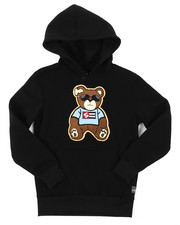 Hoodies - Pullover Fleece Hoodie W/ Chenille Patch (8-20)-2385075