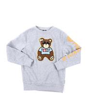 Sweatshirts & Sweaters - Fleece Crew Neck W/ Chenille Patch (8-20)-2385362
