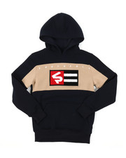 Hoodies - Pullover Fleece Hoodie W/ Chenille Patch (8-20)-2384749
