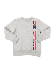 Sweatshirts & Sweaters - Vertical Script W/ Lines Champion CVC Crew Sweatshirt (8-20) -2384599