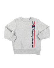 Champion - Vertical Script W/Lines Champion CVC Crew Sweatshirt (4-7)-2384594