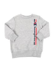 Champion - Vertical Script W/Lines Champion CVC Crew Sweatshirt (2T-4T)-2384591