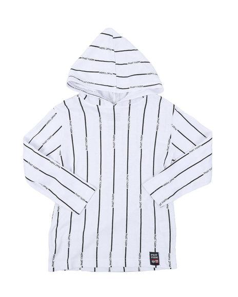 Phat Farm - Hooded Long Sleeve Stripe Print Tee (4-7)