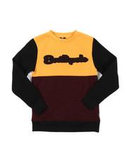Sweatshirts & Sweaters - Marled Fleece Crew Neck Sweatshirt W/ Chenille Patch (8-20)-2384864