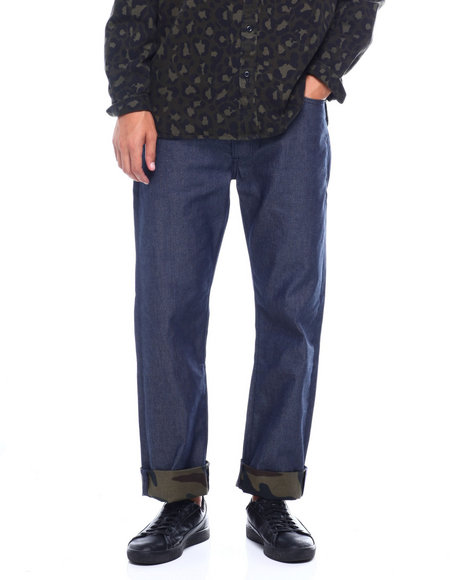 Levi's - 501 Camo Cuff Phalarope Demitasse Jean