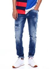 Men - Rip and Repair Paint Splatter Slim Fit Jean-2385396
