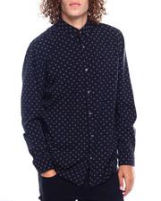 Men - abstract print LS Woven Shirt-2385477