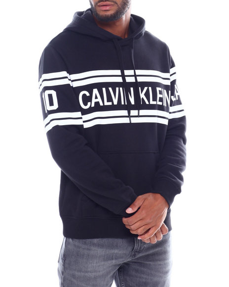 Calvin Klein - VARSITY TRAVELING LOGO HOODIE