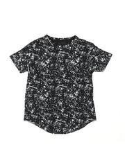 Boys - Printed Splash Crew Neck Long Scoop Bottom Jersey (8-18)-2387476