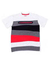 Tops - S/S Color Block Tee W/Neon Nylon Zipper (8-18)-2387306