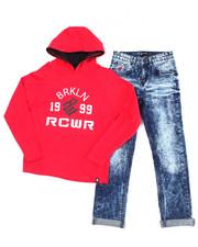 Rocawear - 2PC  L/S Hoodie + Denim Jeans Set (4-7)-2388055