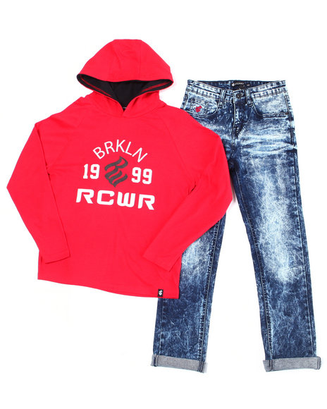 Rocawear - 2PC  L/S Hoodie + Denim Jeans Set (Infant)