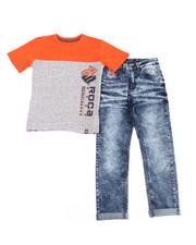 Rocawear - 2PC S/S Tee + Denim Jeans Set (4-7)-2387754