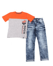 Rocawear - 2PC S/S Tee + Denim Jeans Set (8-20)-2387759