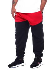 Big & Tall - Color Block Fleece Pants W/Side Zipper (B&T)-2387180