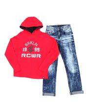 Sets - 2PC  L/S Hoodie + Denim Jeans Set (2T-4T)-2387718