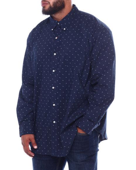 Chaps - EC Stretch-Long Sleeve Sport Shirt (B&T)