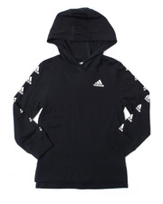 Adidas - Hooded Linear Tee (4-7)-2387727