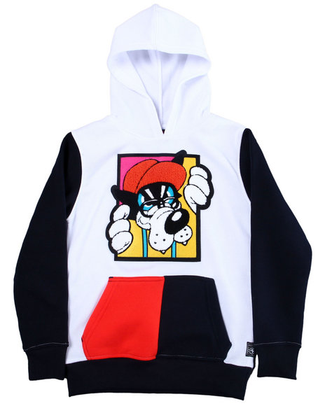 Arcade Styles - Pullover Fleece Hoodie w/ Chenille Patch (8-20)