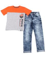 Sets - 2PC S/S Tee + Denim Jeans Set (2T-4T)-2387772