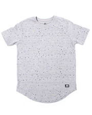 Arcade Styles - S/S All Over Splatter Printed Solid Crew Neck Jersey (8-18)-2387575