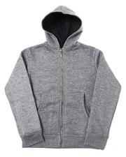 Hoodies - Heavy Weight 260-280GSM Fleece Zip Hoodie (8-18)-2387455