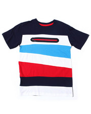 Arcade Styles - S/S Color Block Tee W/Neon Nylon Zipper (2T-4T)-2387358