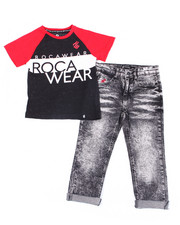 Rocawear - 2PC S/S Tee + Denim Jeans Set (8-20)-2388073