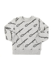 Champion - AOP Open Script CVC Crew Sweatshirt (8-20)-2387563