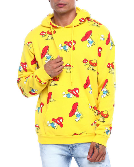 C-LIFE GROUP LTD - ALL OVER SMURF HOODIE