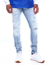 Jordan Craig - Distressed Blown out Knee Stretch Jean-2388219