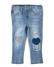 Sizes 2T-4T - Toddler - Skinny Jeans w/ Denim Patches And Print DTLS (2T-4T)-2388908