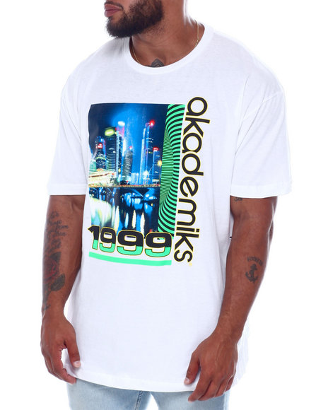 Akademiks - Logo Photo Print & HD Print S/S Tee (B&T)