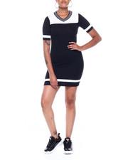 Dresses - Vnk Elbow Slv Color Block Dress-2389073