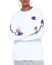 "Champion - The Original Tee-Left Chest ""C"" & Sleeve Scripts-2385298"