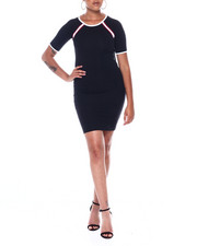 Dresses - S/S Ringer Dress W/Taping Detail-2389093
