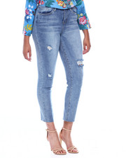 Jeans - Dream Vintage Distressed Raw Edge Straight Leg Jean-2387189
