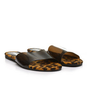 Fashion Lab - Translucent PVC Open Toe Slide Sandals-2388002