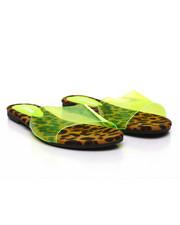 Fashion Lab - Translucent PVC Open Toe Slide Sandals-2388011