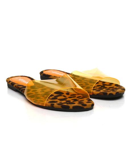 Fashion Lab - Translucent PVC Open Toe Slide Sandals