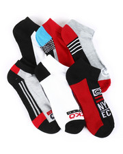 Accessories - 6 Pack 1/2 Cushion No Show Socks-2388454