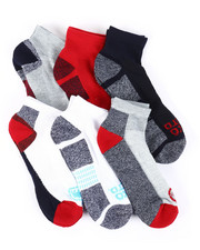 DRJ SOCK SHOP - 6 Pack Quarter Cushion Socks-2388102