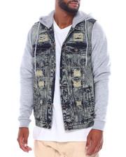 Buyers Picks - Hooded Denim Jacket w Fleece Sleeve-2389617