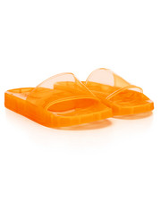 Fashion Lab - Transparent Neon Slide Sandals-2387996